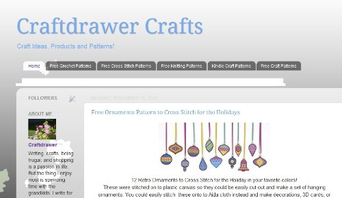 Craft Drawer Craft Patterns, Ideas and Free Patterns (Cultures Cross Stitch)