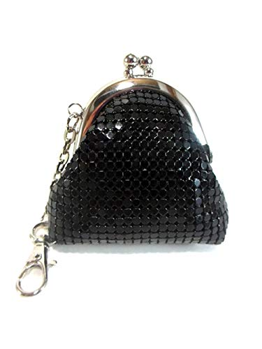 Womens Coin Purse Metal Mesh Kiss Lock Clasp Buckle Wallet Pouch