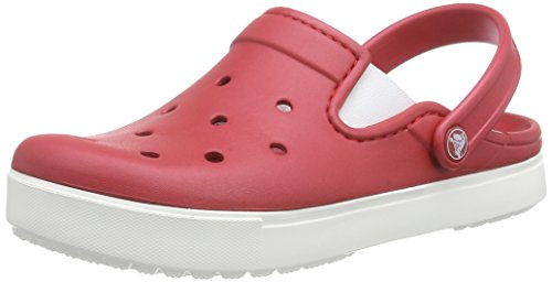 Crocs Unisex City Sneaks Slim Clog Pepper/White Size 9 M