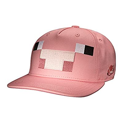 JINX Minecraft Pig Mob Snapback Baseball Hat (Pink, One Size) by JINX