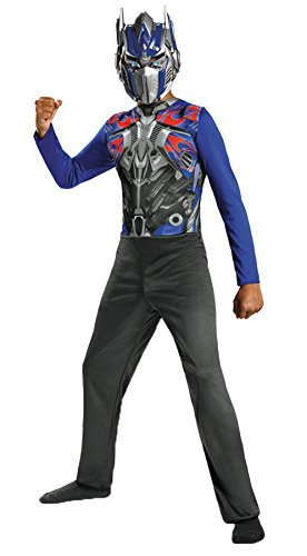 Boy's Transformers Optimus Prime Theme Child Outfit Halloween Costume, Child M (7-8) Blue ()