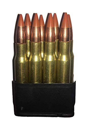 J&M Specialties M1 Garand 30-06 Springfield Dummy Rounds in Enbloc Snap Caps WW2 WWII US GI Crimped (Painted Tips (Orange Standard)) ()