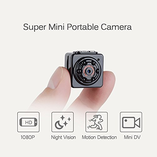 Mini Spy Hidden Camera -ENKLOV 1080P Portable Tiny Video Recorder Cam with Night Vision,Motion Detection,Loop Recording,Indoor/Outdoor Use,Portable and Compact