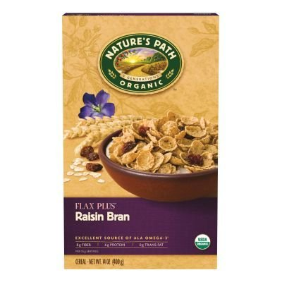 Nature's Path Flax Plus Raisin Bran Cereal 14 Oz (Pack of...