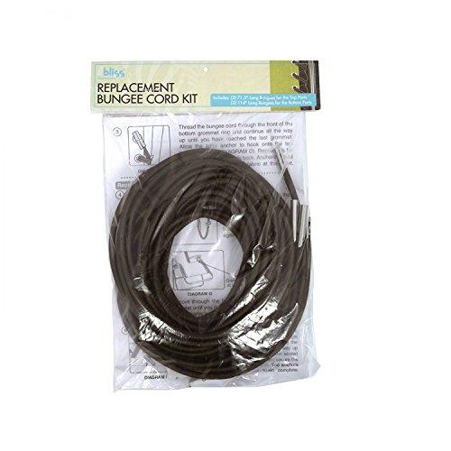 Bliss Hammocks GFC-CRDKT Replacement Bungee Cord Kit, Dark Brown