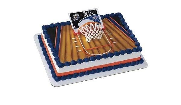 Magnificent Decopac Nba Oklahoma City Thunder Cake Topper Basketball Slam Dunk Funny Birthday Cards Online Inifofree Goldxyz