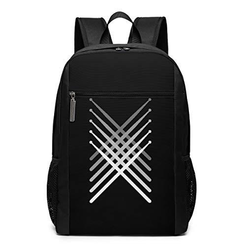 Backpack, Fading Percussion Drum Sticks Backpacks Travel School Large Bags Shoulder Laptop Bag For Men Women Kids