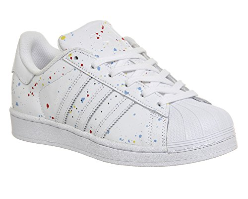 Superstar Pelle Adidas Sneakers Uomo Bianco an57Ug