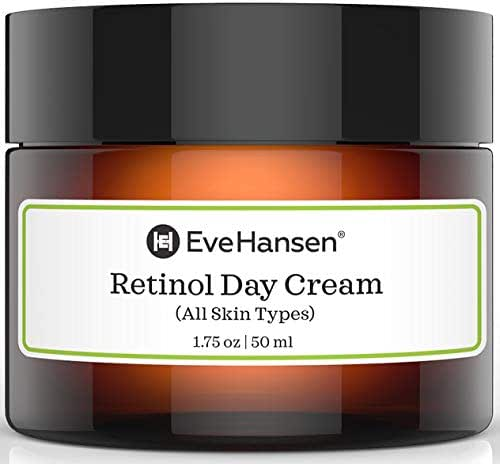 Eve Hansen Retinol Cream Anti Aging Moisturizer for Face and Neck with Vitamins A, C, E, and Organic Extracts (Camellia, Cucumber, Apple) | For Wrinkles, Fine Lines, Dark Spots Day and Night 1.75 oz
