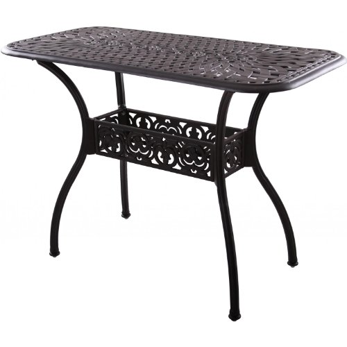 Darlee Series 60 Cast Aluminum Counter Height Patio Serving Table - Antique Bronze