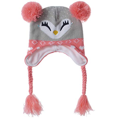 f18950bd6 Winter Hats for Girls - Cartoon Fox Kids Warm Sherpa Earflaps Snow Hat  Toddler Child Little Girl Kintted Beanie Cap S