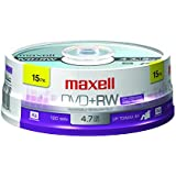 Maxell Rewritable DVD+RW (15-Pack)