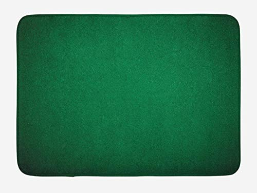 (luckyly Hunter Green Bath Mat, Digitally Created Plain Surface Vegas Color Holdem Artful Picture Print, Plush Bathroom Decor Mat with Non Slip Backing, 16 X24 inch (40 X 60 cm))