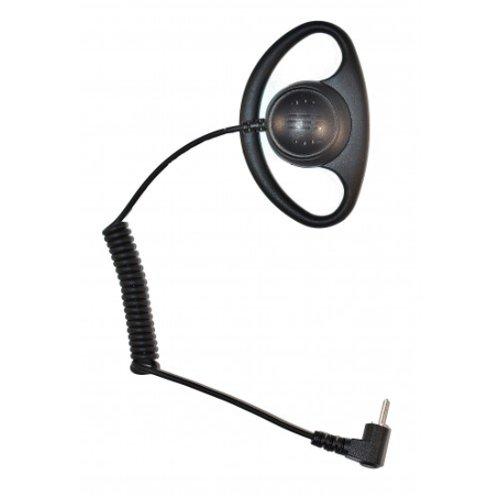 2.5mm Police Listen Only D-Ring Earpiece Headset for Motorola Radio Speaker Mic - D-ring Earpiece
