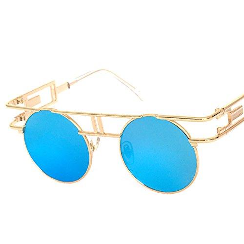 Glasses Bright Reflective Retro Women's Sunglasses,as the picture shows,Copper Tea C8