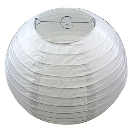 LIHAO 12 Inch White Round Paper Lanterns (10 Pack) by LIHAO (Image #1)