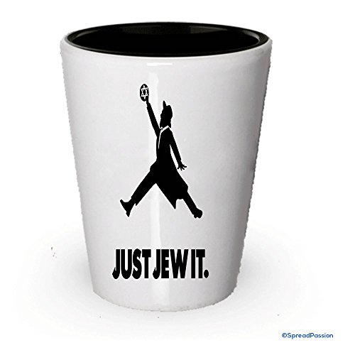 Just Jew It Shot Glass- Funny Gifts For Jewish People (1)