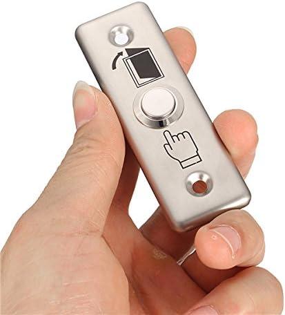 MYAMIA 92x28Mm en Acier Inoxydable Sonnette Bouton Poussoir Interrupteur Tactile