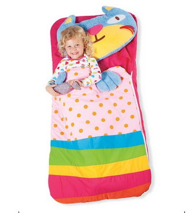 HearthSong® Sillies Gilly the Kitty with Fish Kids Animal Sleeping Bag with Plush Pillow Machine Washable Folds Into a Bag With (Kitty Sleeping Bag)