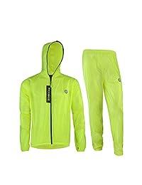 ROCKBROS Cycling Rain Suits Jacket and Pants Waterproof Reflective Strips