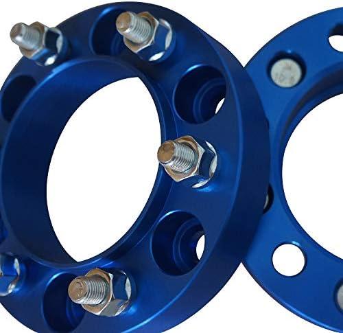 IBACP 2個セット 6x5.5ブルーホイールスペーサー1.25インチボルトオンホイールアダプタースペーサー12x1.5スタッドアダプター対応