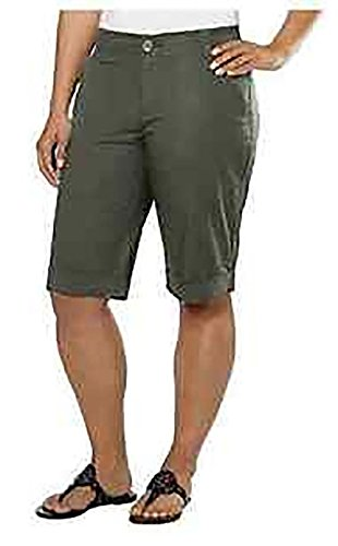 DKNY Jeans Women's Bermuda Walking Shorts (4, Military Green) ()