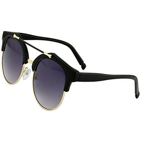 sumery-retro-vintage-fashion-unisex-round-lens-semi-rimless-frame-sunglasses-black-grey