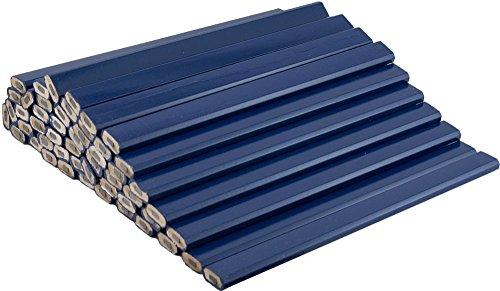 Blue Carpenter Pencils - 72 Count Bulk Box - Ten Color Choices