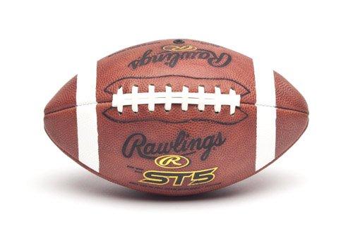 Rawlings Full Grain Leather Pee Wee Size Football - Leather Composite Wee Football Pee