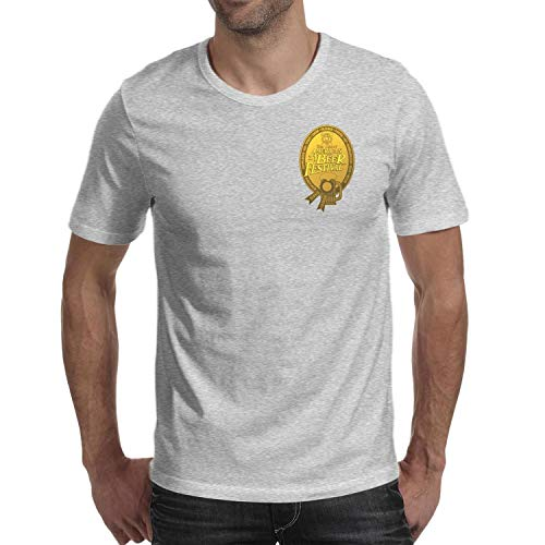 GuLuo Great American Beer Festival Gold Medal Mens T-Shirt Round Neck Cute Short Sleeve Tees