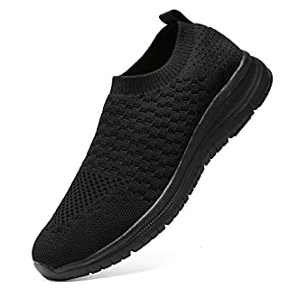 Staragon Women's Slip On Breathe Mesh Walking Shoes Casual Work Sneakers quanhei-40