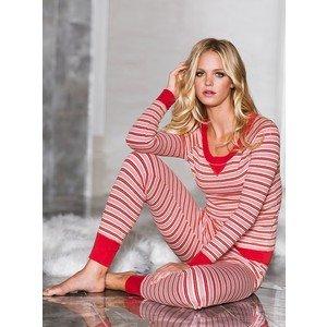 Victorias Secret Fireside Long Jane Stripes Pajama Set Size S