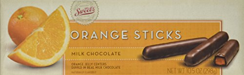 Sweet's Milk Chocolate Orange Sticks, 2 Pack; (10.5 oz. box) by Sweet 10
