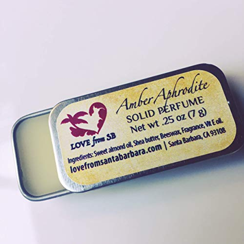 Amber Aphrodite Solid Perfume | Luxurious Artisan Spa Gift | Convenient, fits in your purse or travel bag | Amber Perfume