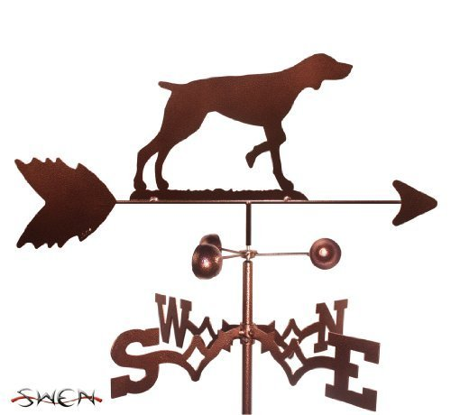 Hand Made GERMAN SHORT HAIR DOG FLAT POST Mount Weathervane ~NEW~ by SWEN Products
