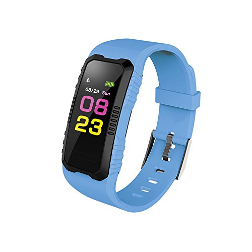 Cheap HP95 Led Watch for Sport,Waterproof Digital Wrist Watch,H1 Heart Rate Blood Pressure Monitor Slot Blue Tooth Smart Watch-Colorful UI Display (Blue)