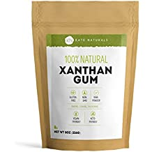 Kate Naturals Xanthan Gum. 100% Natural. Perfect For Gluten-Free Baking, Cooking & Thickening Sauces, Gravies & Shakes. Non-GMO. Large Resealable Bag. 1-Year Guarantee. (8oz).
