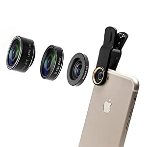 Phone Photography Kit-Flexible Phone Tripod +Remote Shutter Lens Kit-High Power 18X Monocular Telephoto Lens, Fisheye, Macro & Wide Angle Lens for iPhone X 8 7 6 Plus Samsung Smartphone