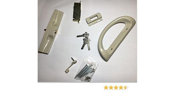 Euro tirador para puerta corredera de cristal Kit – con Llave (marrón): Amazon.es: Bricolaje y herramientas