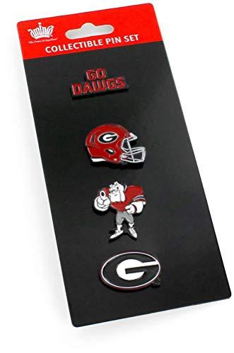 NCAA Georgia Bulldogs Team Pride 4 Pin SetTeam Pride 4 Pin Set, Team Color, 5 x 2-inches (Georgia Lapel Pin)