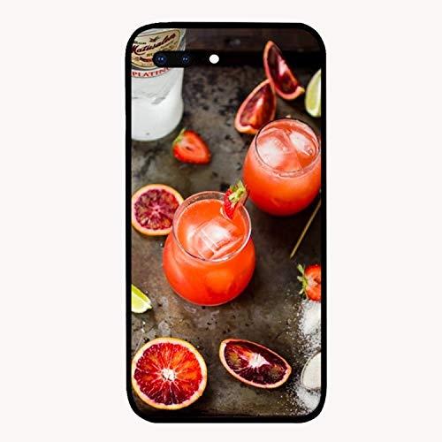(Blood Orange Rum Strawberry Printed iPhone 7/8 Plus Cover Anti-Fingerprint Hard PC iPhone 7/8 Plus Case 5.5