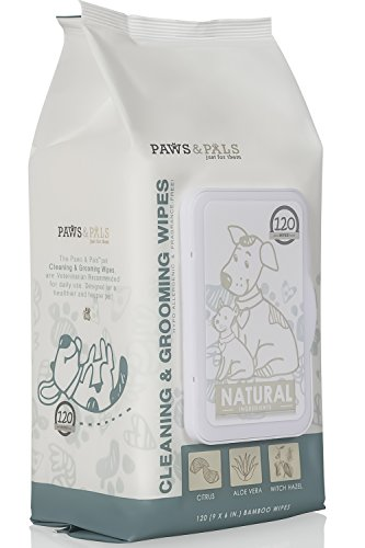 - Pet Grooming Wipes for Dogs & Cats (Pack of 120) Fragrance-Free, Cleans, Deodorizes & Hypo-Allergenic