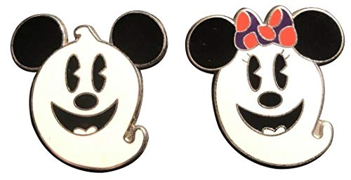 Disney Pins - Halloween - Mickey Mouse and Minnie Mouse as Ghosts - Pin 72103