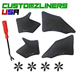 Customzliners USA Front Fender Liners + Retainer Clips + Removal Tool Fit for 2005-2019 Toyota Tacoma Fender Liner Apron Splash Shield Flap Seal Splash Guard Skirt