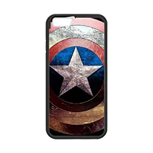 iPhone 6 4.7 Inch Cell Phone Case Black Captain America YR117092