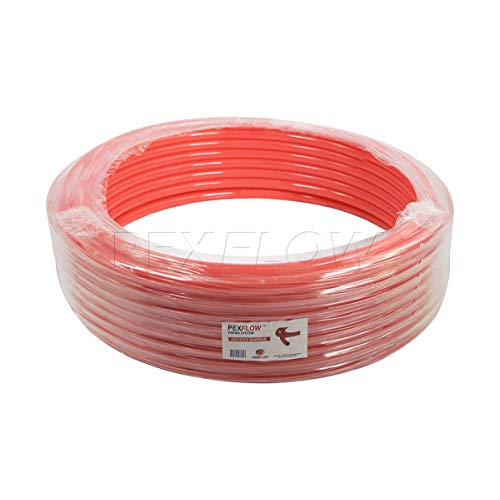 Pexflow PFR-R1100 Oxygen Barrier PEX Tubing for Hydronic Radiant Floor Heating Systems, 1 Inch x 100 Feet, Red by PEXFLOW (Image #1)
