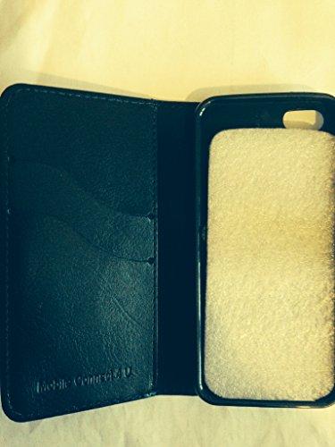 Mobileconnect4u nera a portafoglio in pelle PU/custodia Flip per iPhone 5/5S con pellicola proteggi schermo e pennino capacitivo