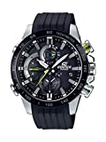 Casio Men's Edifice Stainless Steel Quartz Watch with Rubber Strap, Black, 21.75 (Model: EQB-800BR-1ACF)