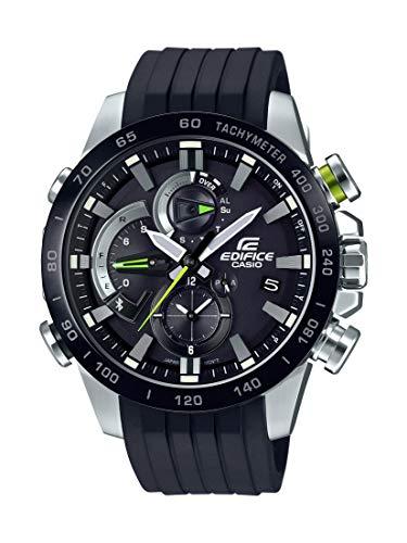 Casio Men's Edifice Stainless Steel Quartz Watch with Rubber Strap, Black, 21.75 (Model: EQB-800BR-1ACF) Casio Edifice World Time Watch