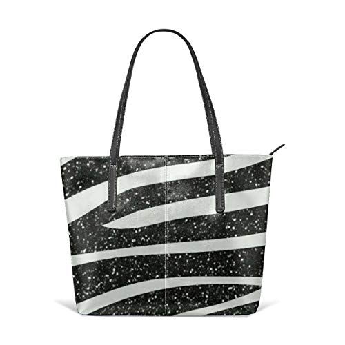 Zebra Print Handle Handbags Satchel Womens Shouler Bags Leather Tote Purse Top Messenger Bags for Ladies ()